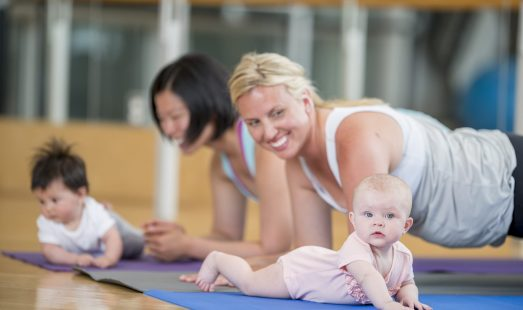 Mothers and their Babies at Exercise Class