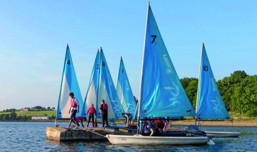 Sailing at Hollingworth Lake
