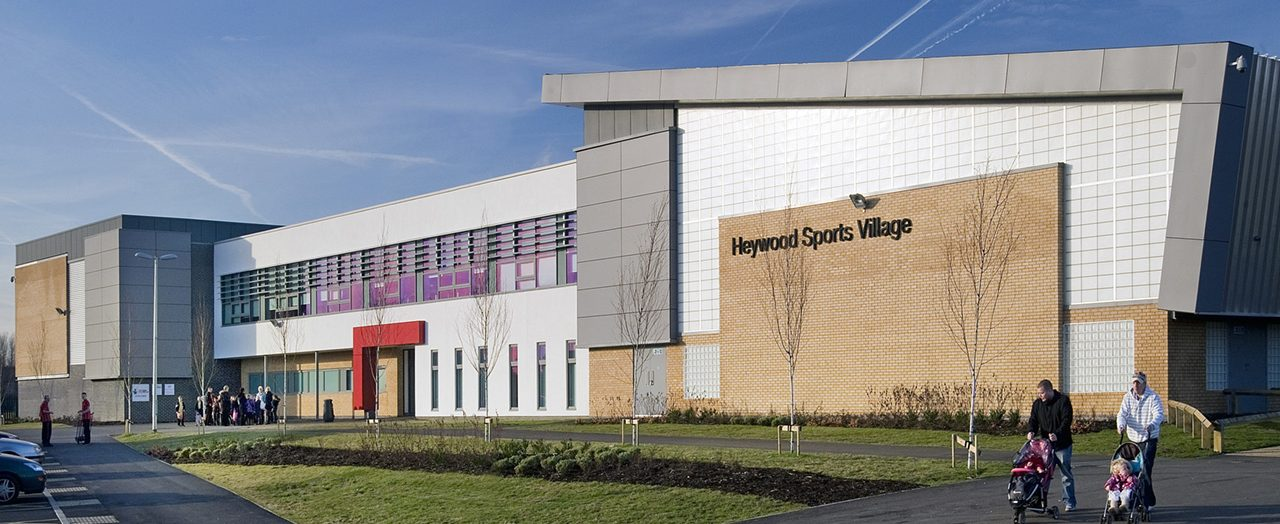 Exterior of Heywood Sports Village