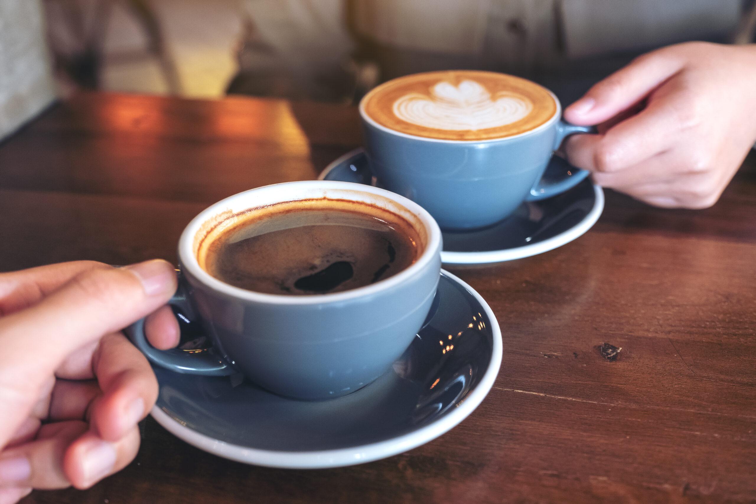 Hot drinks at Slice Cafe
