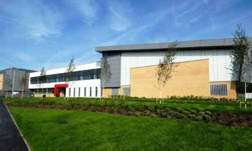 The exterior of Heywood Sports Village