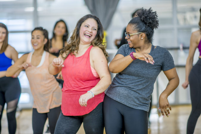 Dancercise group exercise class