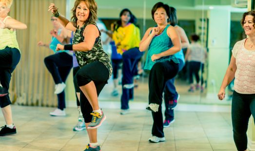 Salsacise group exercise class