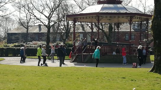 Active Living outdoor exercise class, Broadfield Park