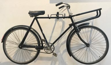 What's Changed? 5. Delivery bike used by Norman Dearden for Scars Butchers and the Co-op in Smallbridge, c. 1930