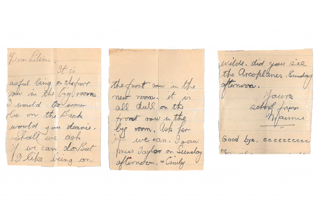 What's Changed? 26. Letter sent by a school friend to Lillian Coupe, date unknown