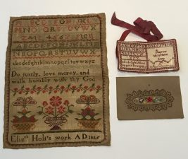 What's Changed? 29. Selection of hand-stitched sewing samplers, 1825-1940