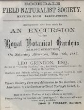 What's Changed 43. Rochdale Field Naturalists Society excursion poster, 1885