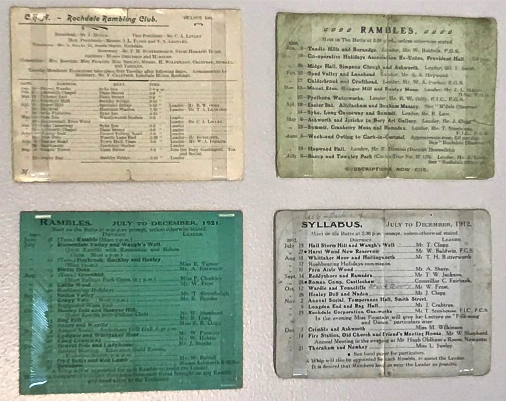 What's Changed? 46. Rochdale Ramblers excursion timetables, 1904-1921