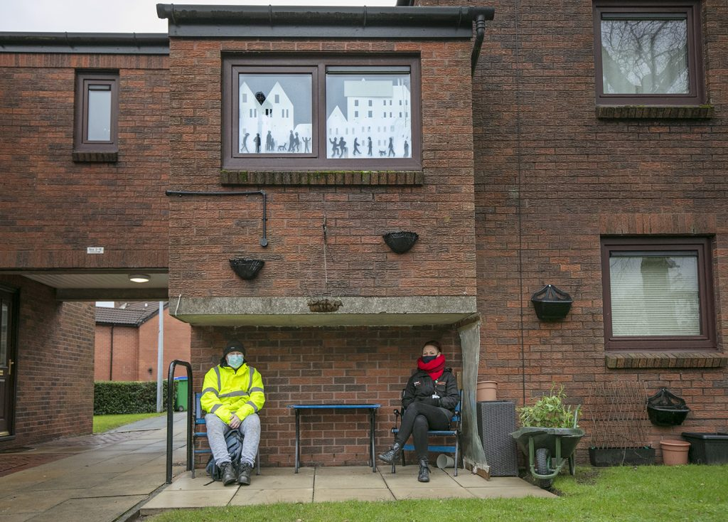 What's Changed? 63. L.S. Lowry-inspired community art project developed by Beam Irwin, delivered in partnership with the Co-operative Society and Arcon Housing