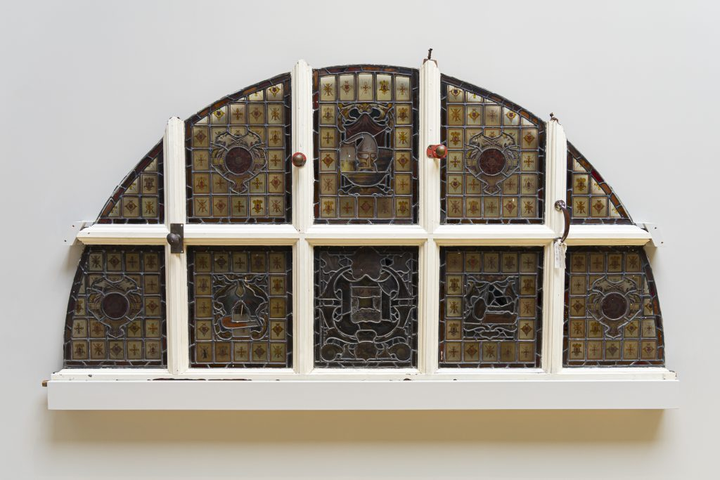 Stained glass window from the Technical School building, c.1891–93