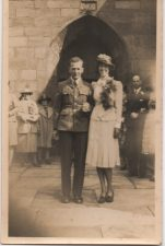 Wedding photograph of Corporal Ernest Dania and Edna Frost, 1941