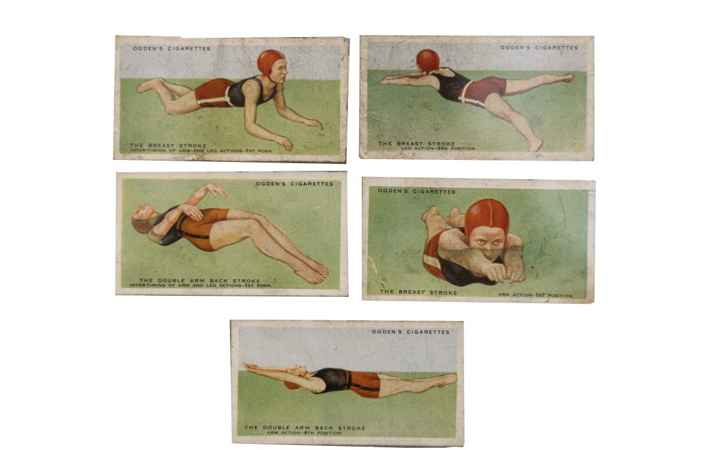 What's Changed? 62. Cigarette cards illustrated with different swimming strokes
