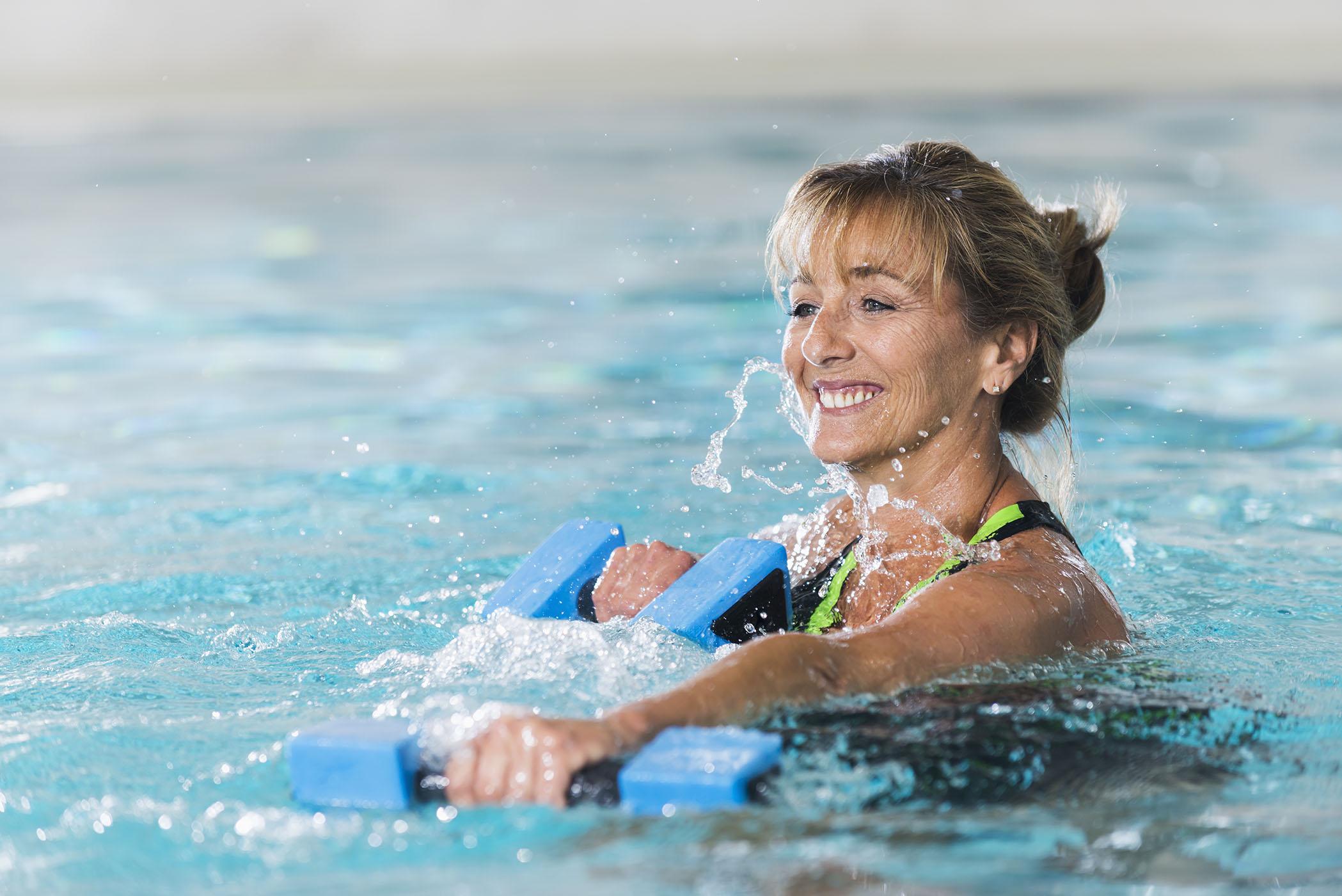 Aqua group exercise class