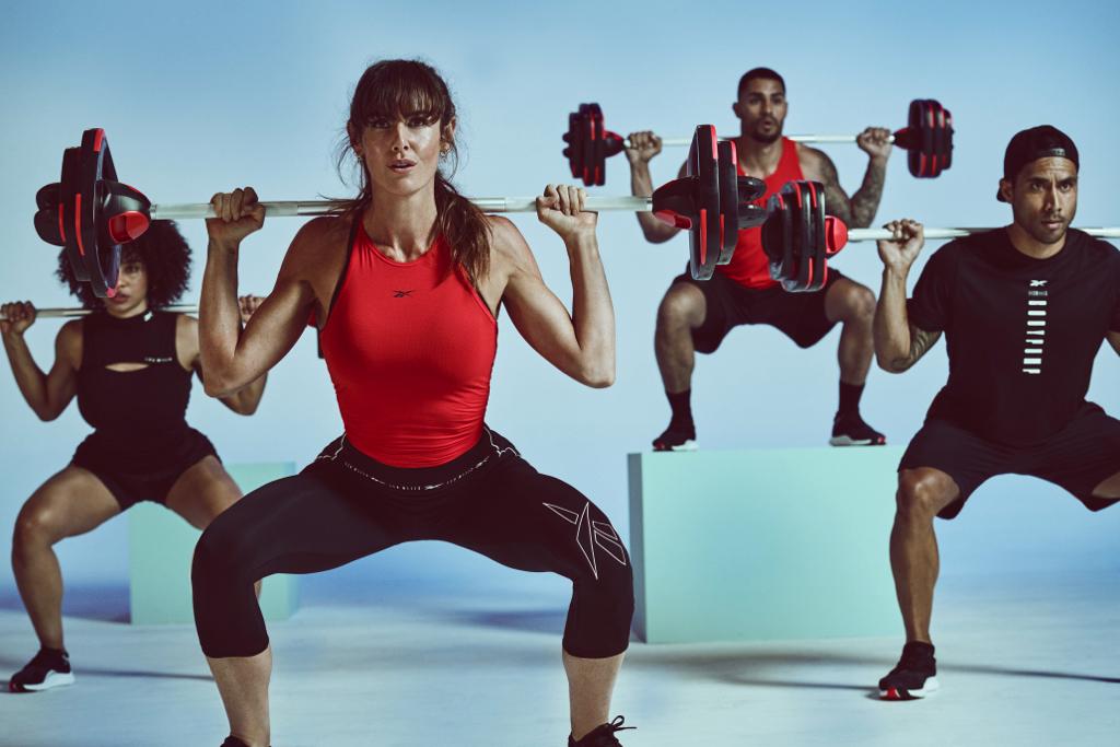 Les Mills BodyPump group exercise class