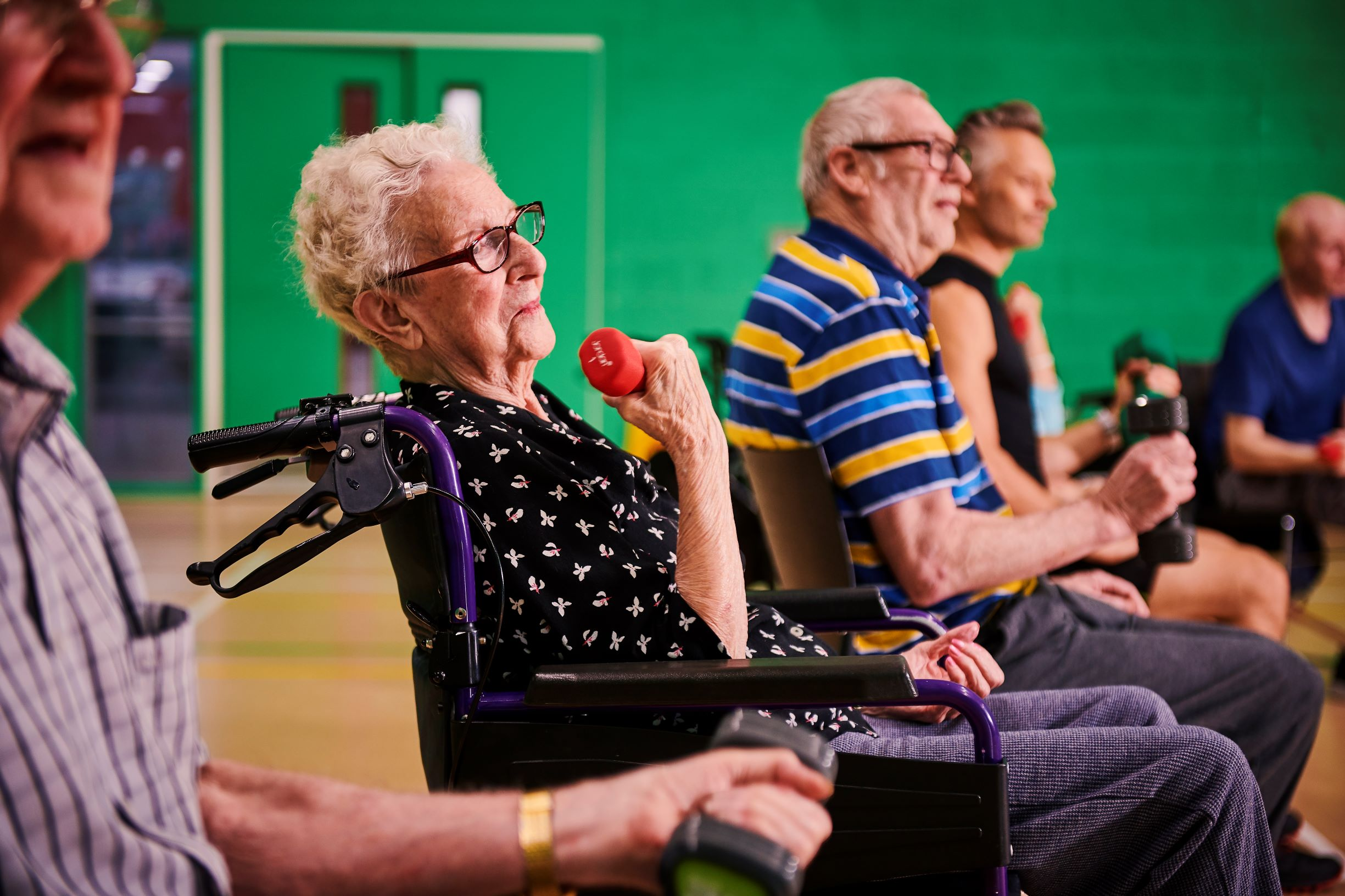 Group Exercise class for older adults
