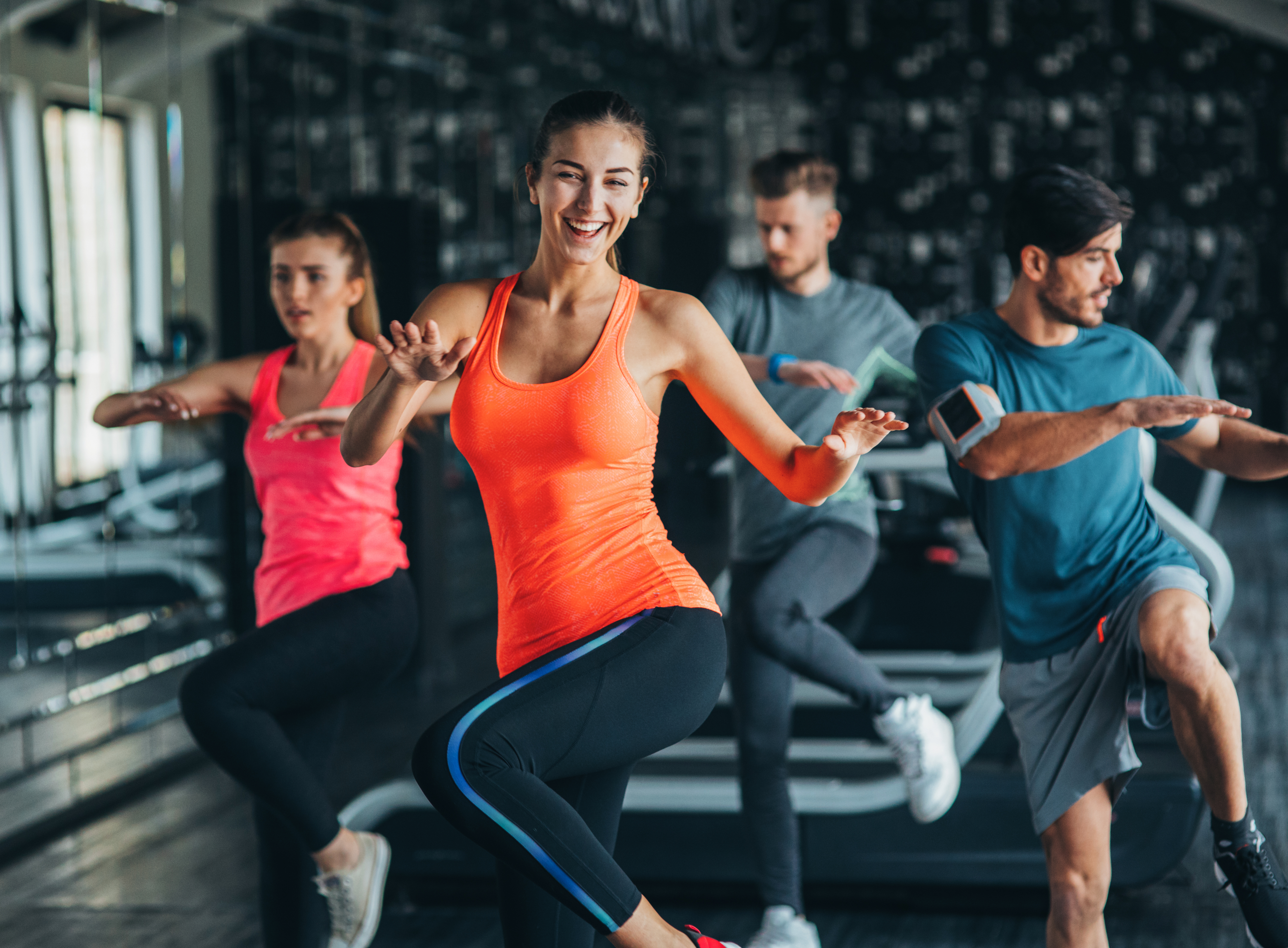 Legs, bums & tums group exercise class