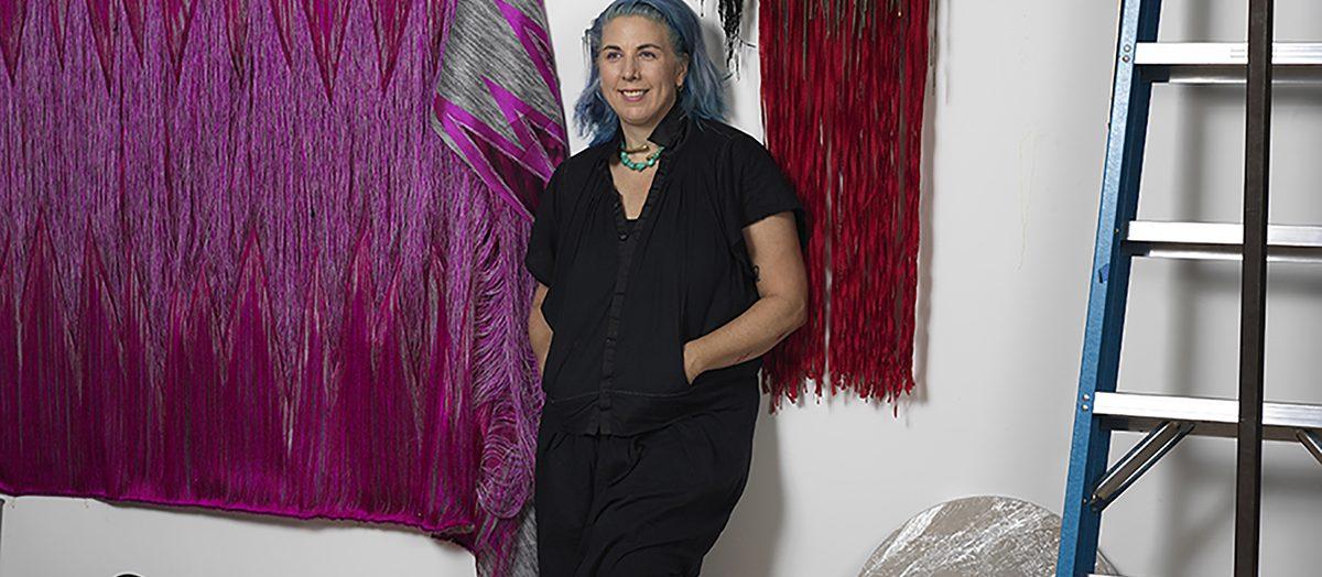 Artist Liz Collins. Photo by James Marcus Wade, 2021