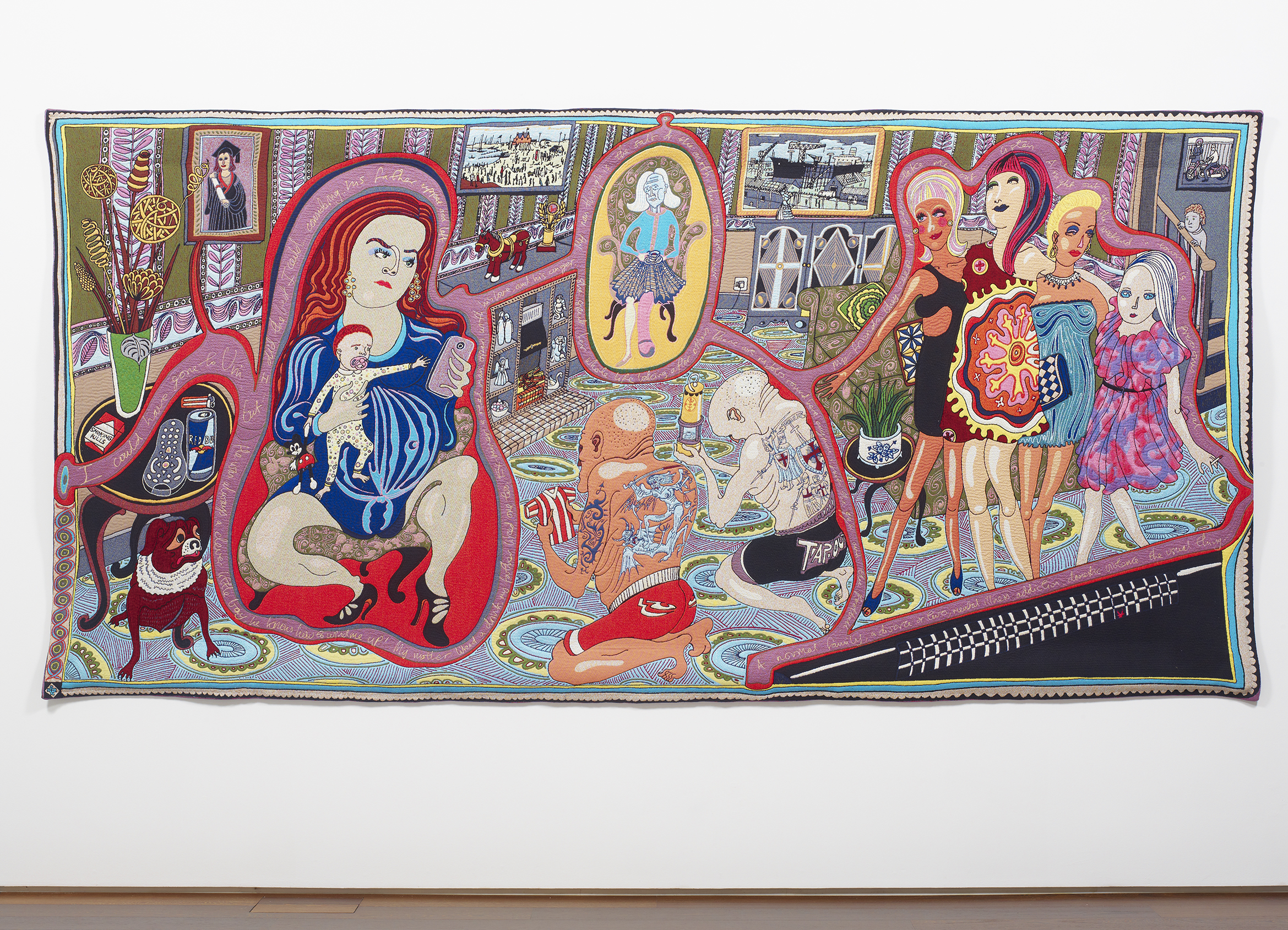 Grayson Perry The Adoration of the Cage Fighters 2012 © the artist. Arts Council Collection, Southbank Centre, London and British Council. Gift of the artist and Victoria Miro Gallery with the support of Channel 4 Television, the Art Fund and Sfumato Foundation with additional support from Alix Partners.