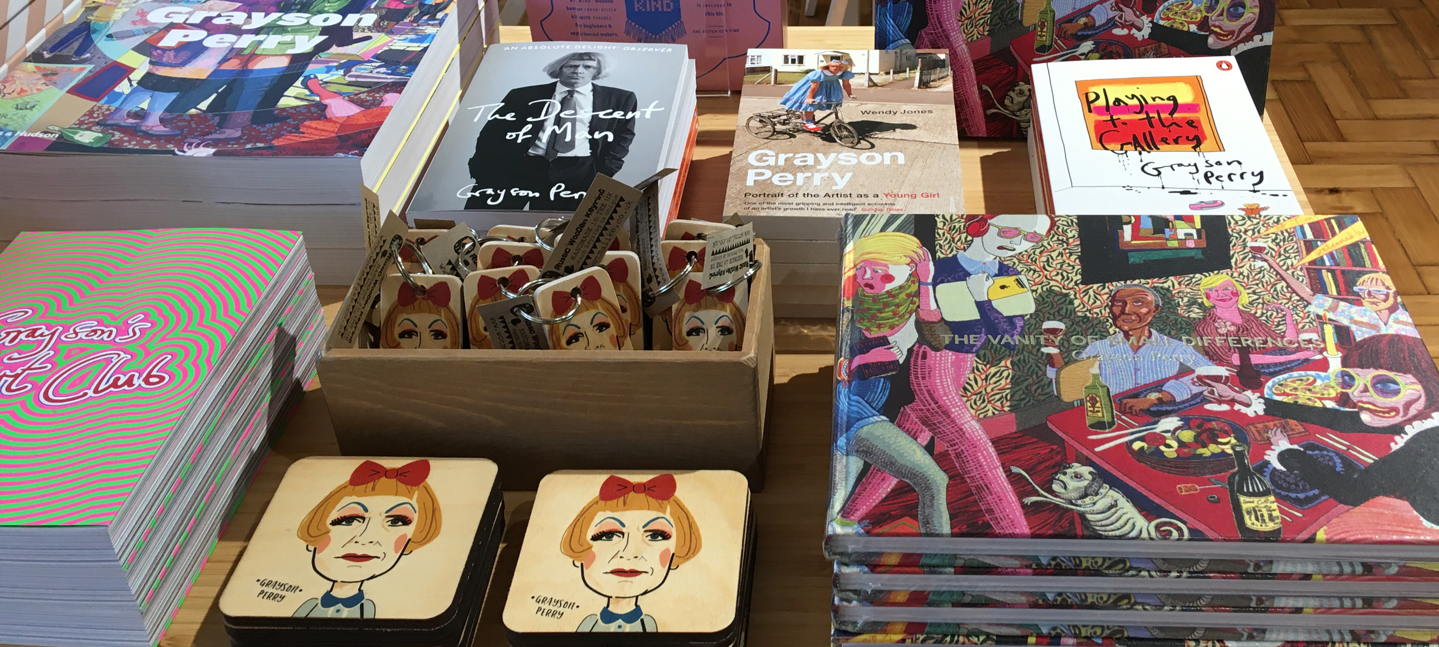 Grayson Perry reail items available in the shop at Touchstones Rochdale